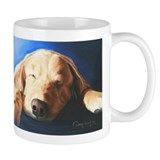Golden Retriever by Dawn Seco Small Mug