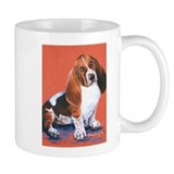 Basset Hound by Dawn Secord Small Mug