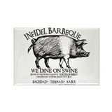 Infidel Barbeque Rectangle Magnet