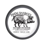 Infidel Barbeque Wall Clock