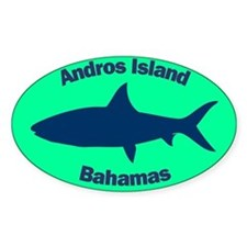 Andros Island Oval Sticker (Green)