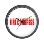 Fire Congress Wall Clock