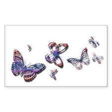 Butterflies! Rectangle Decal