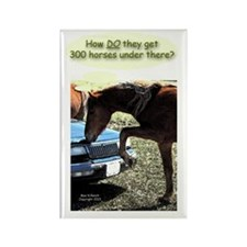 Funny 300 Horse Car Rectangle Magnet