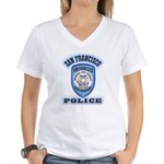 San Francisco Police Traffic Women's V-Neck T-Shir