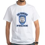 San Francisco Police Traffic White T-Shirt