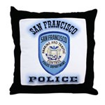 San Francisco Police Traffic Throw Pillow