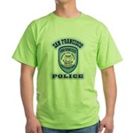 San Francisco Police Traffic Green T-Shirt