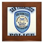 San Francisco Police Traffic Framed Tile