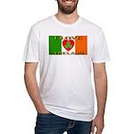 I Love Ireland Shamrock Heart Fitted T-Shirt
