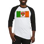 I Love Ireland Shamrock Heart Baseball Jersey