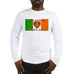 I Love Ireland Shamrock Heart Long Sleeve T-Shirt