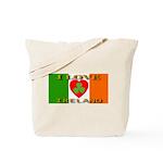 I Love Ireland Shamrock Heart Tote Bag