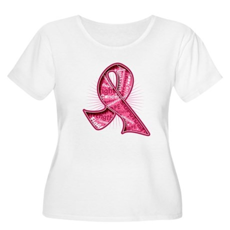 Breast Cancer Watermark Women's Plus Size Scoop Ne