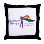 Lavender Womyn Throw Pillow