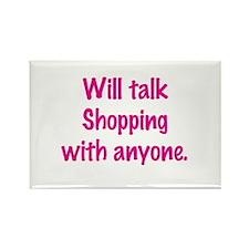 Talk Shopping Rectangle Magnet