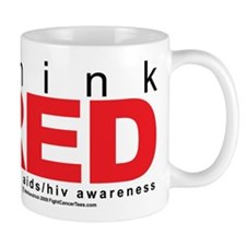 AIDS Think Red Mug