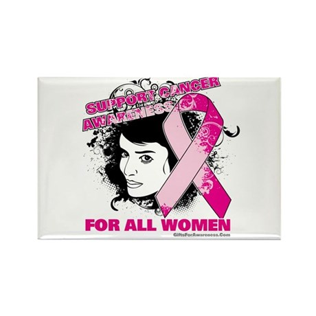 BreastCancer WomanFighter Rectangle Magnet (100 pa