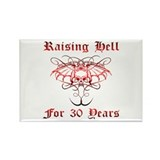 Raising Hell 30 Rectangle Magnet
