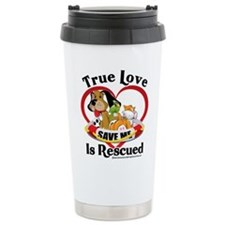 Rescued-Love Ceramic Travel Mug