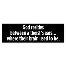 God Resides bumper sticker