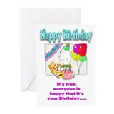 Happy Birthday with cake Greeting Cards (Pk of 20)