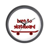 Born To Skate Skateboard Wall Clock