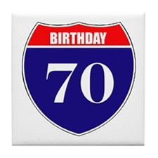 70th Birthday! Tile Coaster