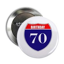 "70th Birthday! 2.25"" Button (10 pack)"
