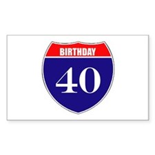 40th Birthday! Decal