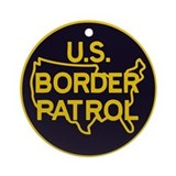 gold/black border patrol Ornament (Round)