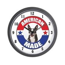 American Made Boston Terrier Wall Clock
