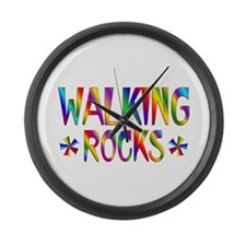 Walking Large Wall Clock