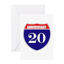 20th Anniversary! Greeting Card