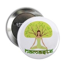 "Namaste Tree 2.25"" Button"