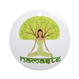 Namaste Tree Ornament (Round)