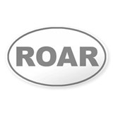 Roar White Oval Decal