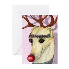 Cute Rudolph red nose reindeer Greeting Cards (Pk of 20)