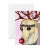 Funny Whippet Greeting Card