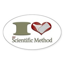 I Heart the Scientific Method Decal