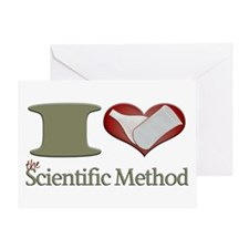 I Heart the Scientific Method Greeting Card