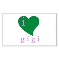 i heart gigi Rectangle Decal