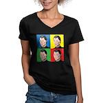 Niccolo Machiavelli Women's V-Neck Dark T-Shirt