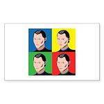Niccolo Machiavelli Sticker (Rectangle 10 pk)