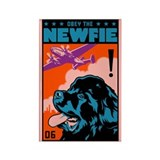 Obey the Newfie! Newfoundland Magnet