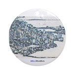Downtown Miami Ornament (Round)