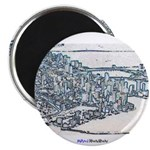 "Downtown Miami 2.25"" Magnet (100 pack)"