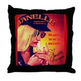 Red Nails Throw Pillow
