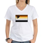 Bear Pride Flag Women's V-Neck T-Shirt