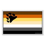 Bear Pride Flag Rectangle Sticker 10 pk)